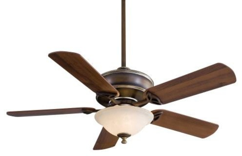 "Ceiling Fan With 5-Blades And Light Kit, 52"", Belcaro Walnut."