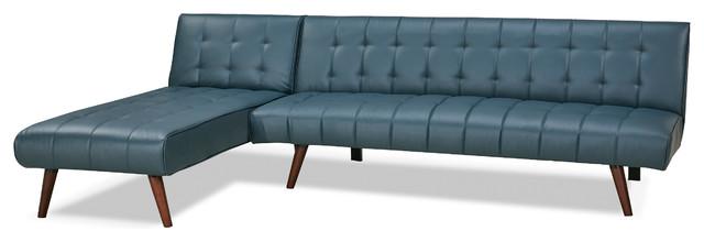 Shelton Smoke Convertible Sectional Sofa Bed