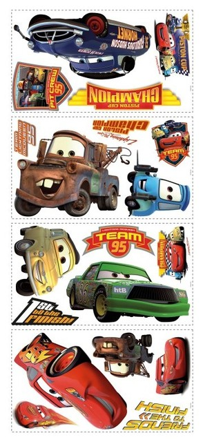 Disney Cars Piston Cup Champions Wall Decals Contemporary Kids Wall Decor