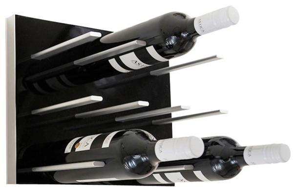 Modular Wine Rack Piano Black Size 6 Pack
