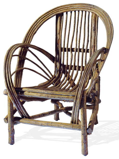 Cast Aluminum Bent Willow Chair Rustic Outdoor Lounge Chairs By Lazy Cf Ranch