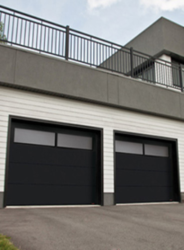 I Chose Gray Driftwood Garage Doors Initially And Now Iu0027m Thinking I Want  Them Painted Black To Match The Front Door. There Will Be Cedar Posts At  The Entry ...