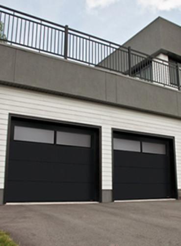 black garage doorDriftwood or Black Garage Doors