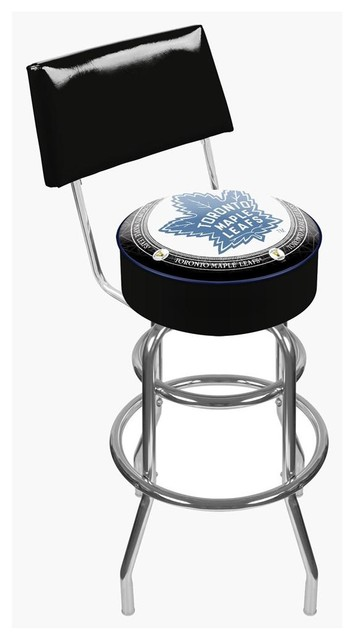 Admirable Throwback Toronto Maple Leafs Padded Bar Stool With Back Bralicious Painted Fabric Chair Ideas Braliciousco
