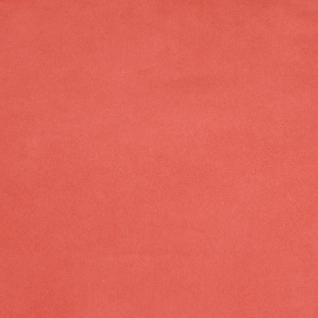 Coral Pink Solid Suede Upholstery Fabric