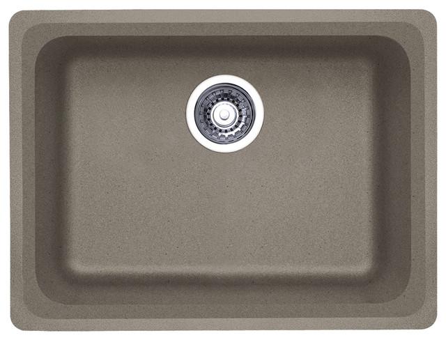 "Blanco 441370 18""x24"" Granite Single Undermount Kitchen Sink, Truffle."