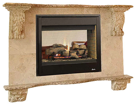 Superior 40 Quot Dv See Through Electric Fireplace With Black