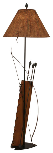 Iron Bow Amp Arrow With Quiver Floor Lamp Southwestern