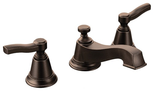 Moen Rothbury 2-Handle Low Arc Bathroom Faucet, Oil Rubbed Bronze
