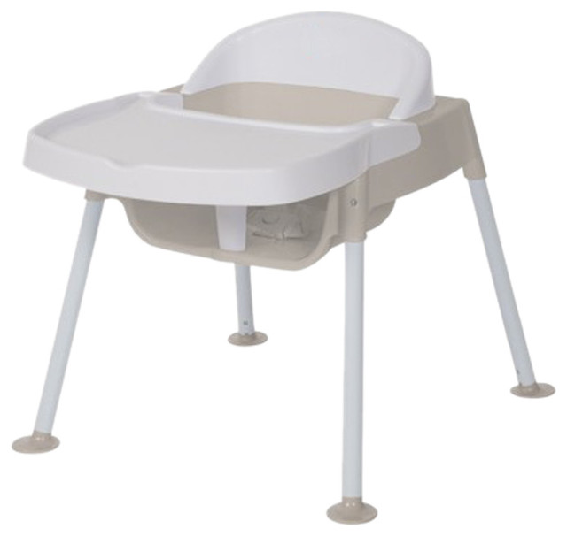 Foundations Secure Sitter Feeding Chair Seat Height White/Tan    Contemporary   High Chairs And Booster Seats   By Clickhere2shop