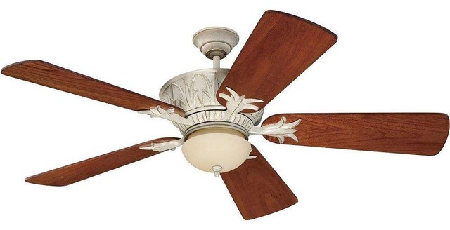 Craftmade K11246 Pavilion 54 Outdoor Ceiling Fan, Remote And Light Kit.