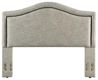 Gregory Upholstered Headboard, Sandstone, Full/Queen