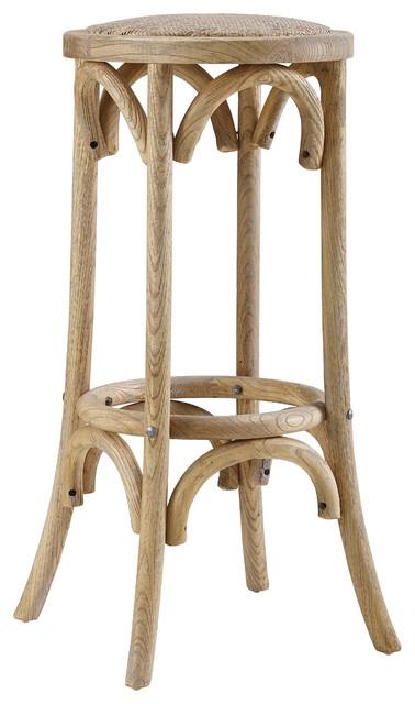 Rae Rattan Seat Backless Stool Farmhouse Bar Stools
