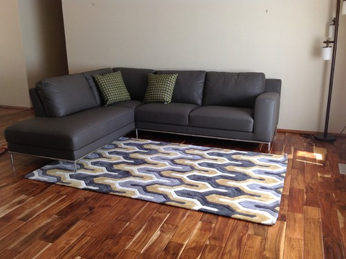 Need living room design ideas with dark grey sectional