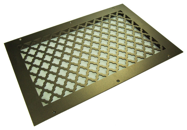 "Tuscan Solid Steel Return Grille, Black, 16""x10"" Return."