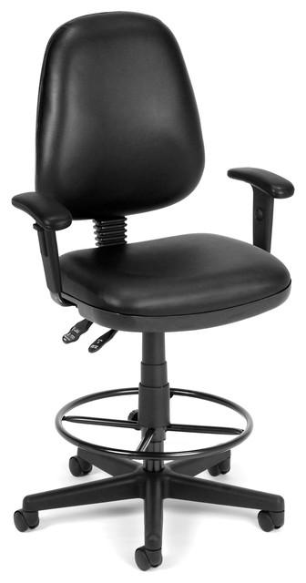 Computer Task Armchair And Drafting Kit, Black.