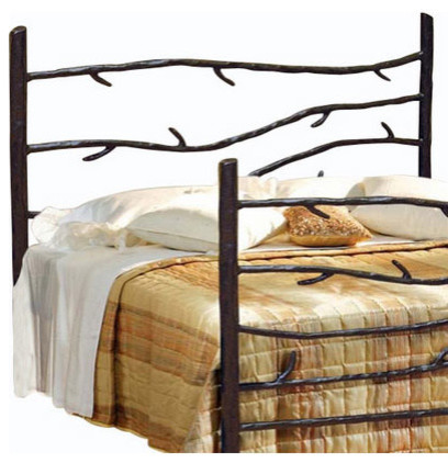 woodland wrought iron headboard  rustic  headboards  by, Headboard designs