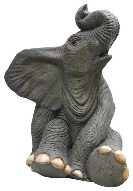 High Quality Sitting Baby Elephant Statue Traditional Garden Statues And Yard Art