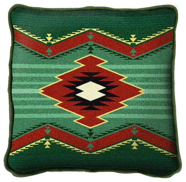 Decorative Pillows Southwestern : Turak Pillow - Southwestern - Decorative Pillows - by Fine Art Tapestries