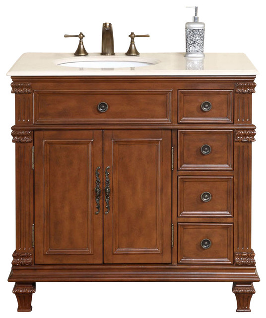 traditional bathroom vanity cabinets esther 36 in single sink bathroom vanity cabinet 21015
