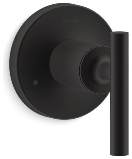 Kohler Purist Valve Trim With Lever Handle For Transfer Valve Matte Black Tub And Shower Parts By The Stock Market