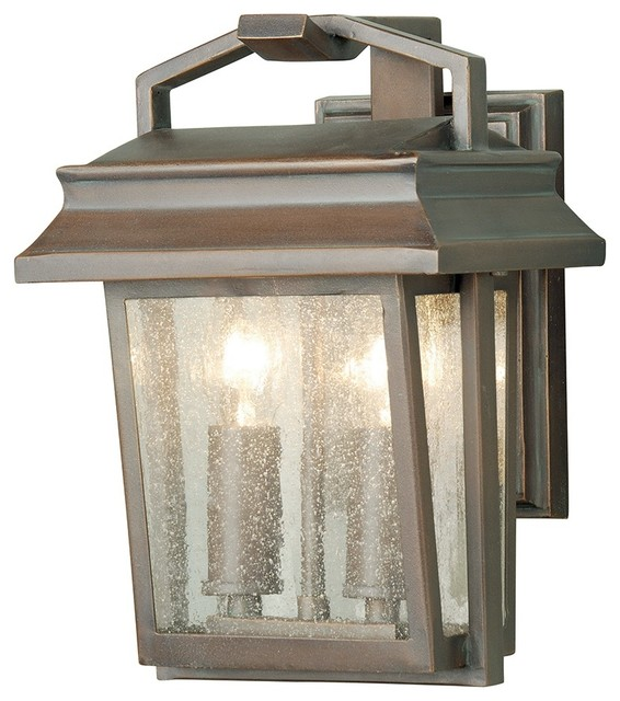 Traditional Styled Wall Lantern, Old Bronze Finish