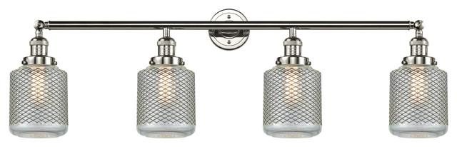 Stanton 4-Light LED Bath Fixture, Polished Nickel