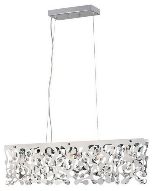 5-Light Island Pendant, Polished Chrome - Contemporary - Kitchen Island Lighting - by Lighting ...