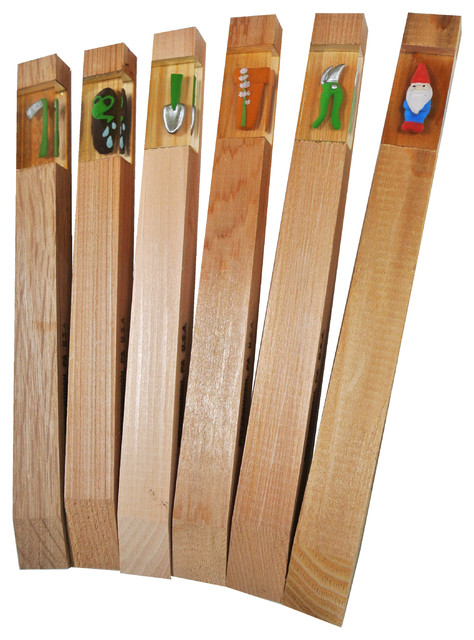 Tool shed garden markers set of 6 contemporary for Garden tools accessories