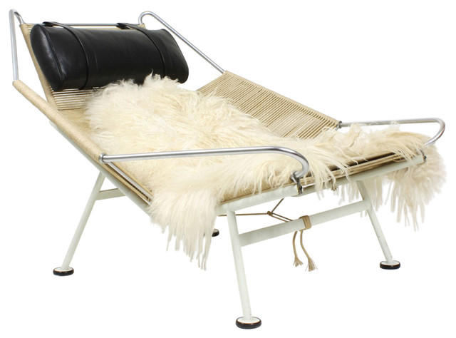 Flag Halyard Chair Black Replica - Contemporary - Indoor Chaise ...