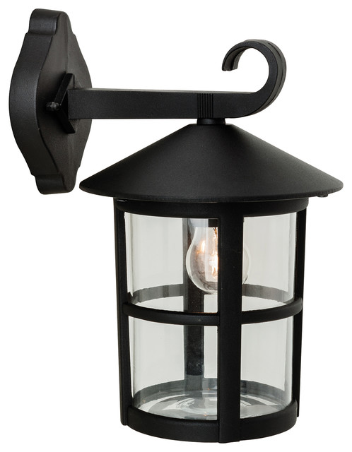 Stratford Hanging Lantern Outdoor Wall Light, Black