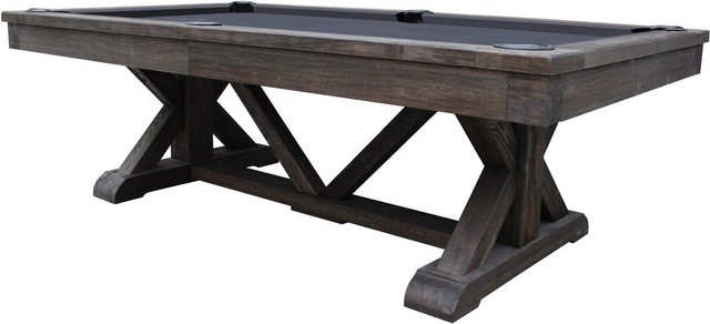 Awe Inspiring Brazos River 8 Slate Pool Table In Weathered Black Beutiful Home Inspiration Xortanetmahrainfo