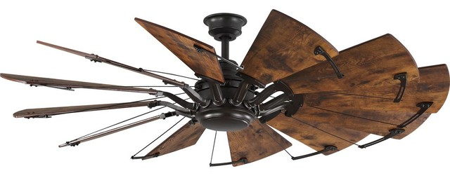 "Springer 12-Blade 60"" Ceiling Fan, Architectural Bronze"