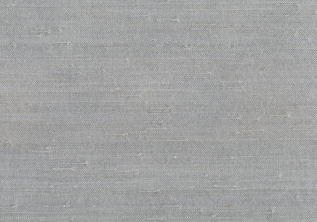 Rei Light Gray Grasscloth Wallpaper Bolt. -1