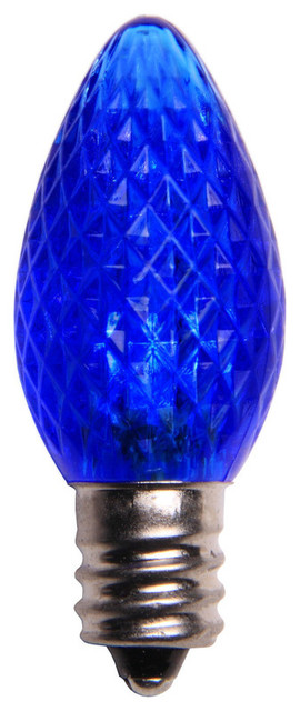 Blue Led C7 Christmas Light Bulbs - Pack Of 25.
