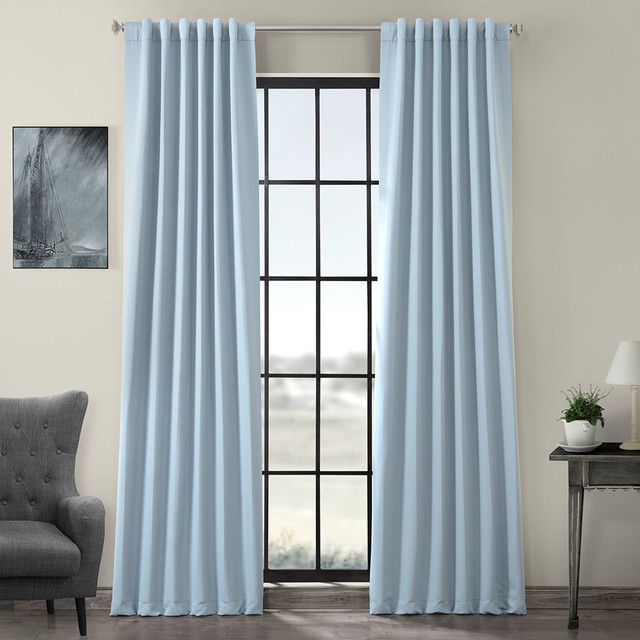 Frosted Blue Blackout Curtain Set Of 2