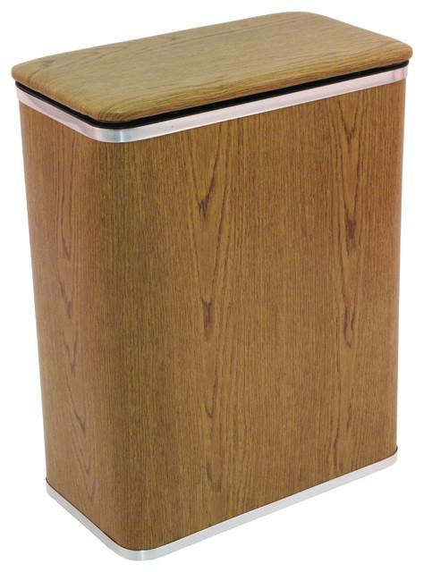 Woodgrain Vinyl Hamper.