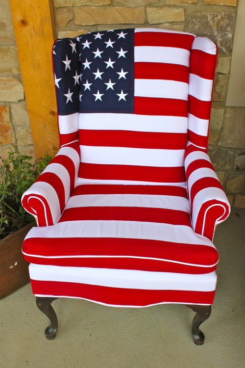Superior Where Can I Buy The Wing Back Chair Upholstered In American Flag, Orde