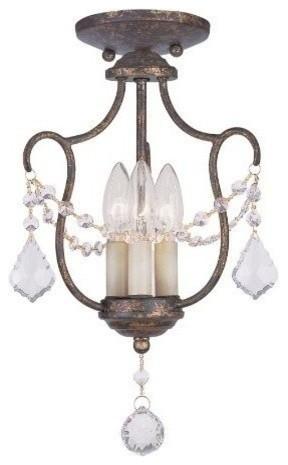 Livex Chesterfield Convertible Chain Hang/ceiling Mount Venetian Golden Bronze.
