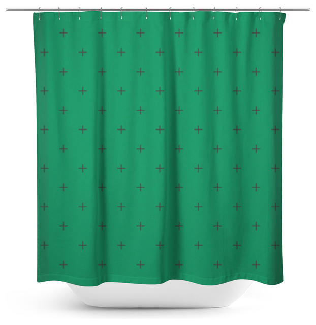 Swiss Cross Forest Green Shower Curtain Modern Shower Curtains By Sylvia C Photography