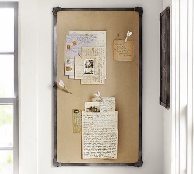Industrial Home Office Wall Organizer Pinboard 36 x 20