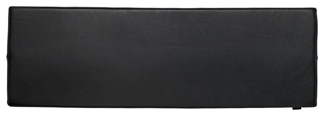 Seat Cushion For Conekt Bench, Black Leather.