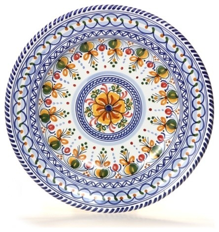 Spanish Floral 13  Majolica Decorative Plate Design A  sc 1 st  Houzz & Spanish Floral 13
