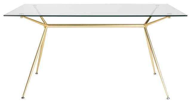 Fine Modern 60 Executive Glass Desk Matte Brushed Gold Frame Download Free Architecture Designs Photstoregrimeyleaguecom