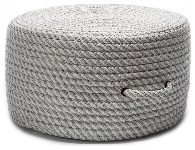 Braided Bright Twist Pouf Pouf Ottoman Shadow Round 20