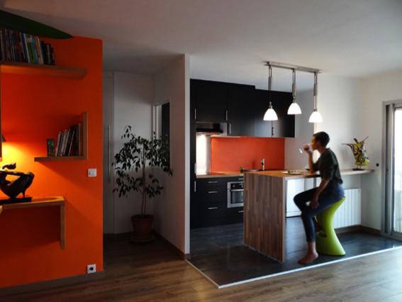 Requalification de la cuisine d 39 un appartement ouverture for Architecte interieur cuisine ouverte