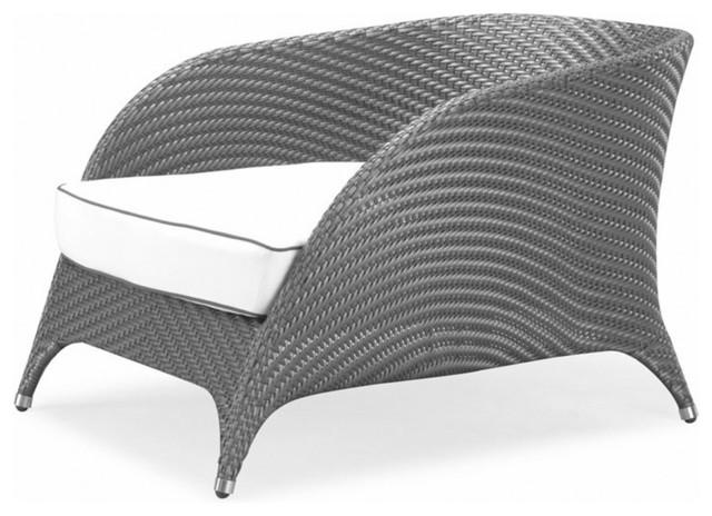 Dark Silver And Silver Flora Lounge Chair, Purple Cushion