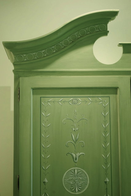 Hand painted secretary - detail - Traditional - Furniture - DC Metro - by Rising Tide Inc.