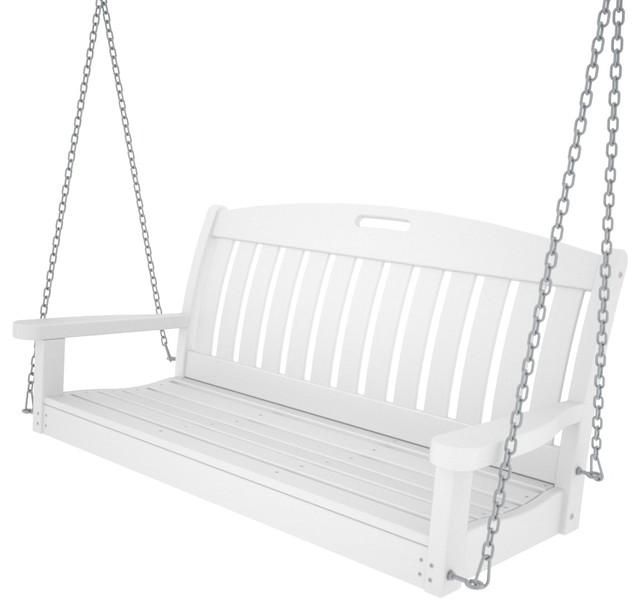 Polywood Nautical 48 Swing, White.