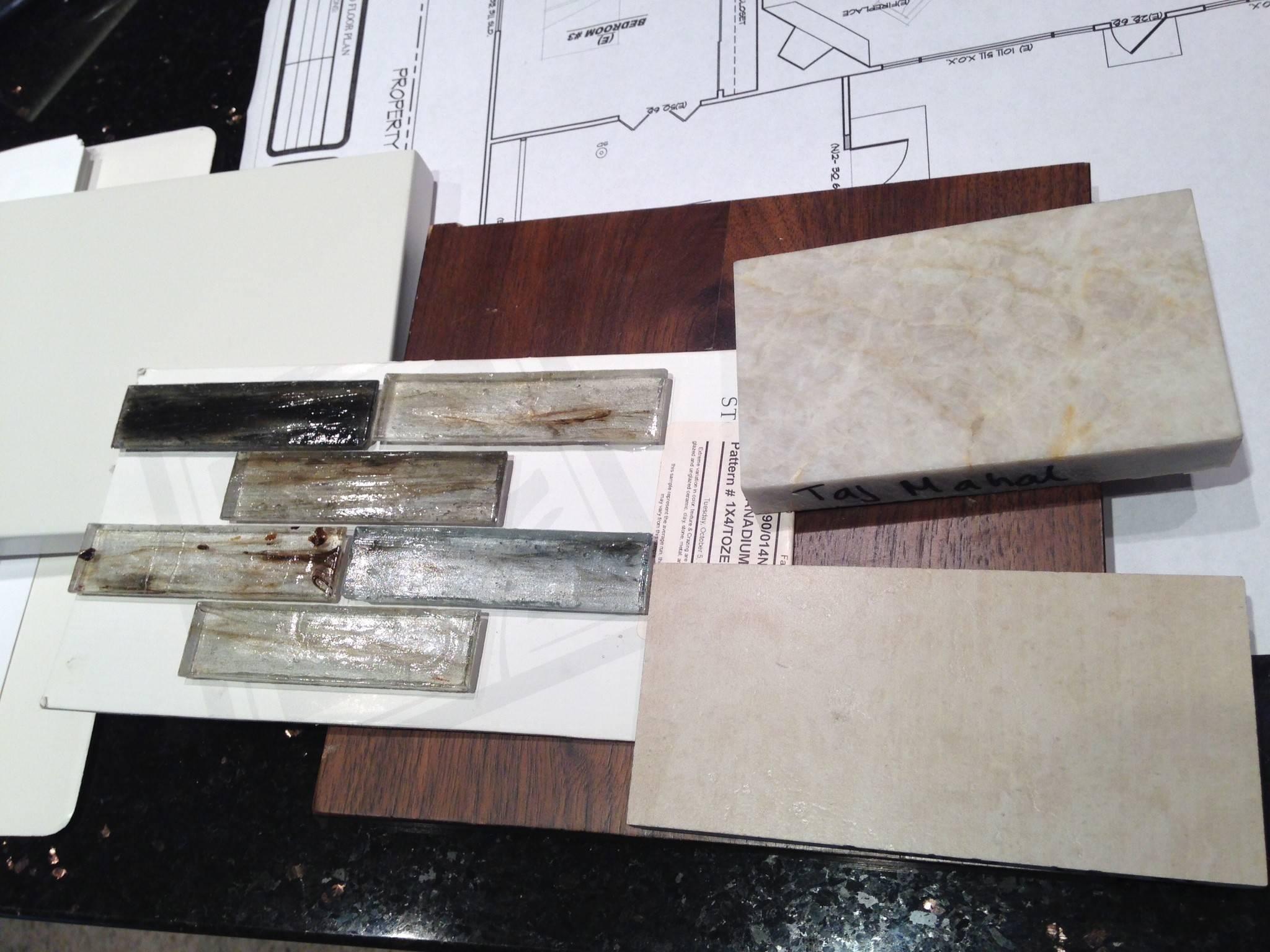 Kitchen tile, floor, cabinet & granite